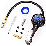 AstroAI Digital Tire Inflator with Pressure Gauge, 250 PSI Air Chuck and Compressor Accessories Heavy Duty with Rubber Hose and Quick Connect Coupler, Black