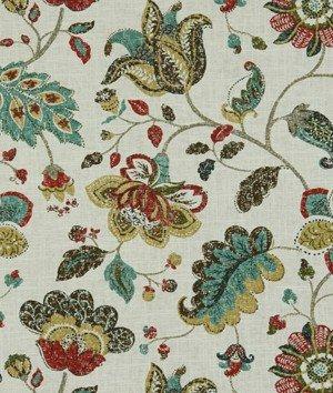 Robert Allen Spring Mix Linen Blend Poppy Fabric
