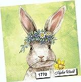 Sweet Bunny Rabbit Paper Napkins Decorative