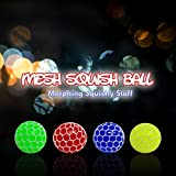 Mesh Stress Balls - Non-Toxic Grape Squishy Ball - Fun Kneading Fidget Toy for Adults & Kids - Ideal for Prizes, Stress Relief, Special Needs, Autism Disorders - 2.4 Inches Size (12 Pack)