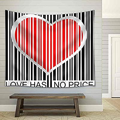 Love Has No Price Fabric Wall, Classic Artwork, Marvelous Composition