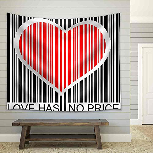 Love Has No Price Fabric Wall