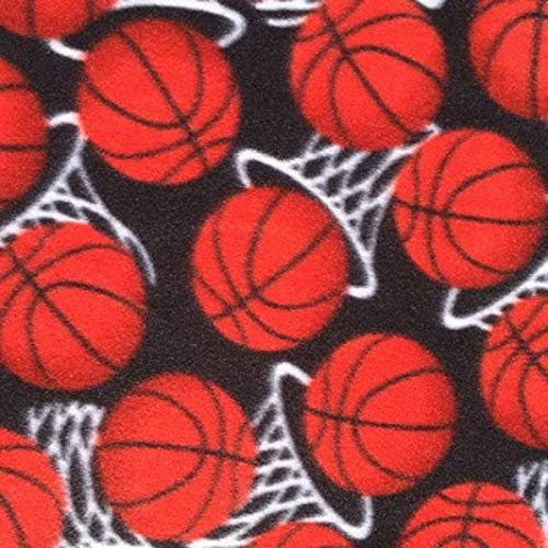 - Basketball Hoops Allover Fleece Fabric - 60