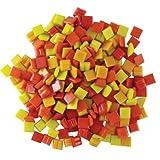 Jennifer's Mosaics Fire Mix 3/8-Inch Venetian Style Glass Mosaic Tile, Assorted Colors, 8-Ounce