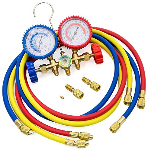 R410A R22 R404A HVAC A/C Refrigeration Charging Service Manifold Gauge Set from Business & Industrial Tools
