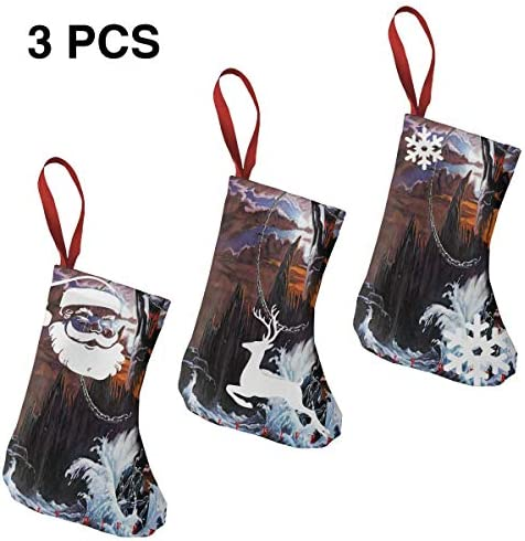 クリスマスの日の靴下 (ソックス3個)クリスマスデコレーションソックス 音楽 Dio クリスマス、ハロウィン 家庭用、ショッピングモール用、お祝いの雰囲気を加える 人気を高める、販売、プロモーション、年次式