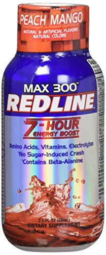 VPX Redline Power Rush 7-Hour Energy Max 300 Shot Supplement, Peach Mango, 2.5 Ounce (Pack of 12) ()