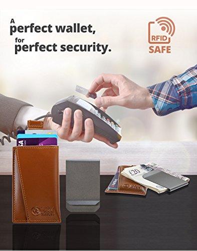 b9f3dfd098f7b Oak and Steel Echtleder SicherheitsPortemonnaie mit RFID Blocker und ...