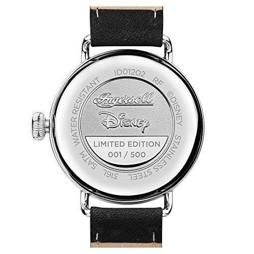 Ingersoll Disney herr Trenton Union kvartsklocka med vit urtavla och svart läderrem ID01202