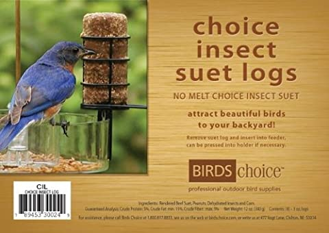 Birds Choice CIL12 Choice Insect Suet Logs Case of 12 - Birds Choice Supper Dome