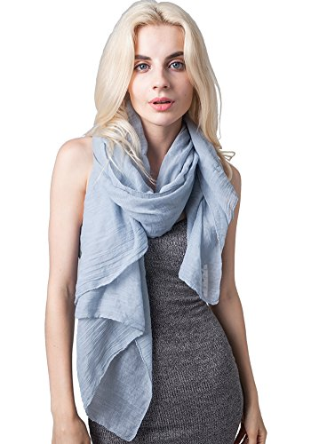 - MissShorthair Lightweight Beautiful Solid Color Scarf for Women Shawl Wrap Soft Solid Scarf (Heather Grey)