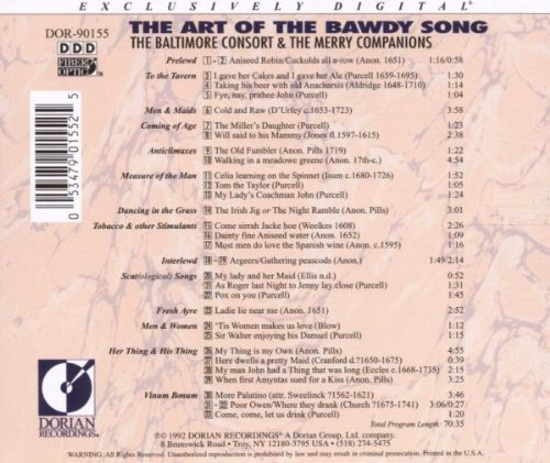 The Art of the Bawdy Song by Sono Luminus
