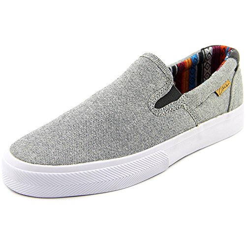 C1RCA Men's Corpus Skateboarding Shoe, Steel/White, 6 M US