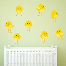 Baby Chicks Wall Sticker Set Cute Animals Wall Decal Baby Nursery Home Decor available in 8 Sizes X-Large Digital