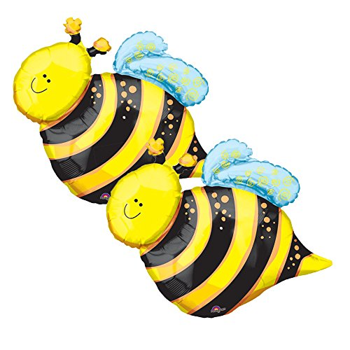 Set of 2 Happy Yellow Bumblebee 25
