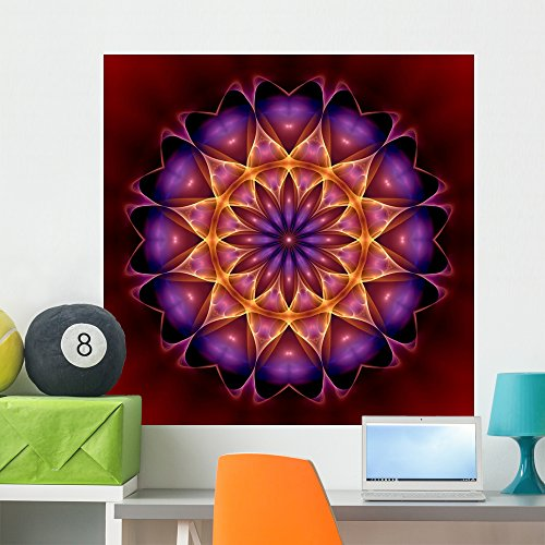 Wallmonkeys New Age Mandala Peel and Stick Wall Decals