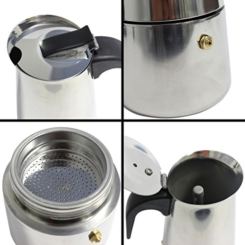 Italian Coffee Maker Stainless Steel : KurtzyTM 6 Cup Stainless Steel Espresso Coffee Cup Maker Italian Style Stove Top Pot - Coffee Pigs