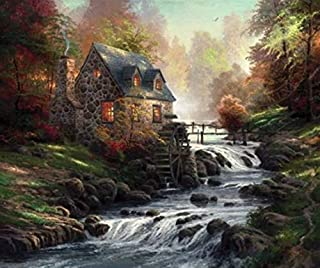 product image for Ceaco Thomas Kinkade - Cobblestone Mill Puzzle - 1000 Pieces