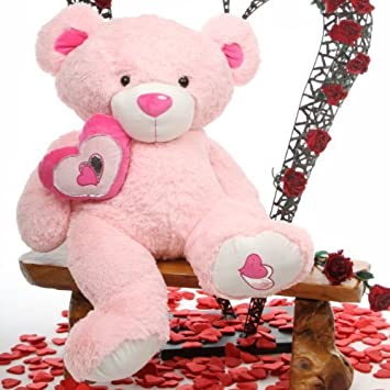cutie pie big love 42 lovable big pink huggable valentines day teddy bear
