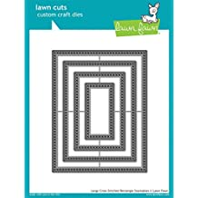 Lawn Fawn Custom Craft Dies - Large Cross Stitched Rectangle dies
