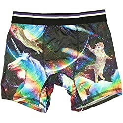 Cat Riding A Unicorn Boxer Briefs - Large