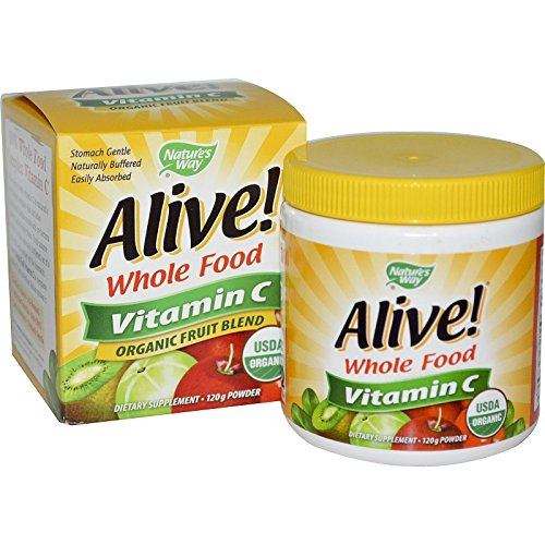 Vitamin Foodsource (Natures Way Alive Organic Vitamin C Powder, 120 Gram - 3 per case.)