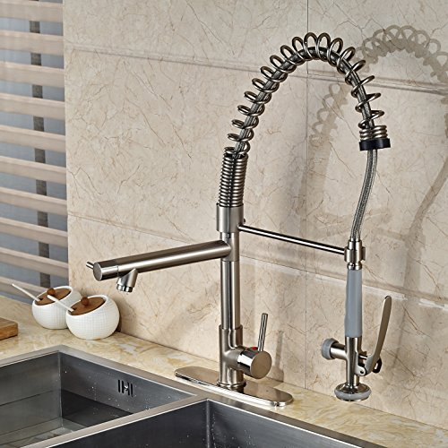 Oulantron Tall High Pressure Pull Down Spray Kitchen Sink Faucet ...
