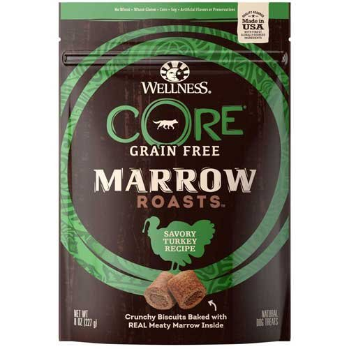 Wellness Core Marrow Roasts Turkey Dog Treat, 8 Ounce - 8 per case.
