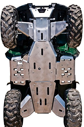 Yamaha Grizzly 700 / 550 Aluminum 10 Piece Skid Plate Set by Ricochet for 2016 Models