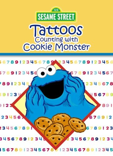 Sesame Street Counting with Cookie Monster Tattoos (Sesame Street Tattoos) -