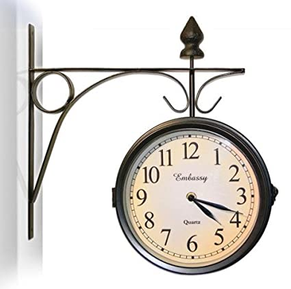 Amazoncom Train Station Clock Thermometer Set Indoor Outdoor