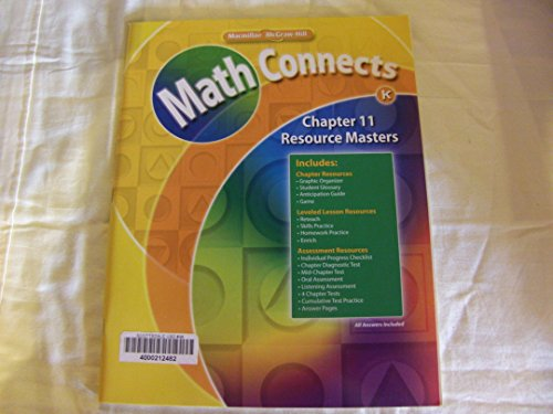 - Math Connects: Grade K Chapter 11 Resource Masters 0021072035, 9780021072033 by Macmillan/McGraw-Hill