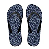 Unisex Blue Snow, Christmas Summer Flip Flops Beach Slippers Jandal