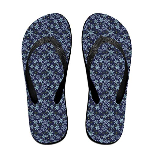 Unisex Blue Snow, Christmas Summer Flip Flops Beach Slippers Jandal by WEIPING LF