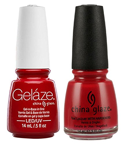 China Glaze Gelaze Tips and Toes Nail Polish, Salsa, 2 Count ()