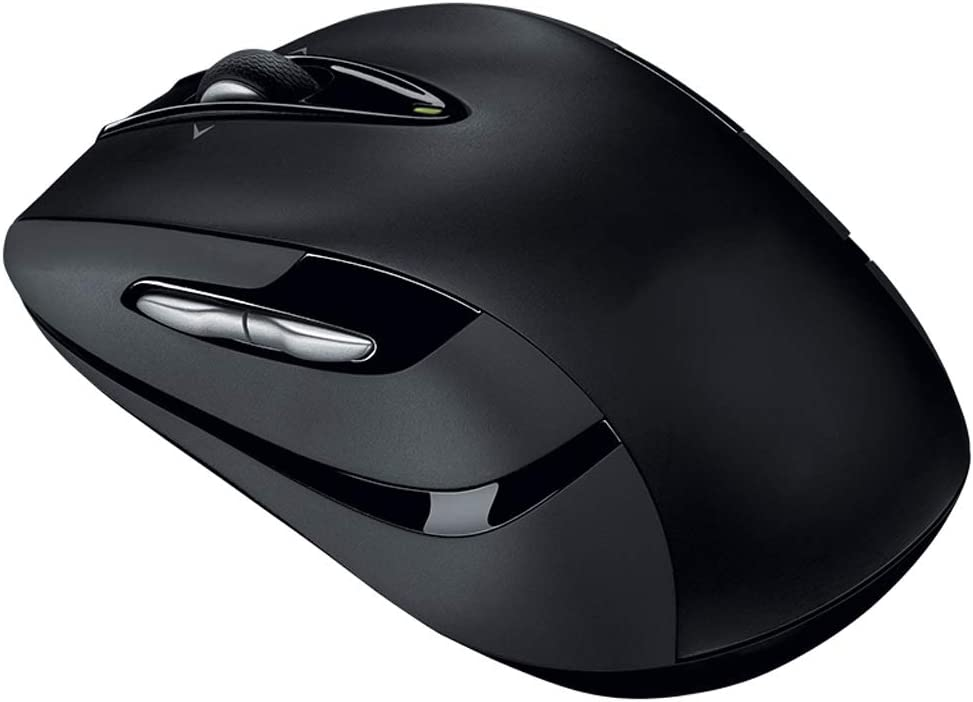 Queen Boutiques Wireless Mouse Side Button Two-Way Wheel Black