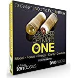 Organic Nootropic Energy - Custom Nootropic Stack of Activated Celastrus Paniculatus (Intellect Tree Seed), Saffron, CDP Choline, Guarana, Theanine, D3, B-100 and More - 2 Weeks (10 Capsules)