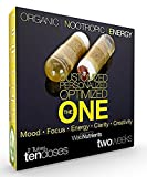 Cheap Organic Nootropic Energy – Custom Nootropic Stack of Activated Celastrus Paniculatus (Intellect Tree Seed), Saffron (Mood), CDP Choline (Memory), Guarana, Theanine, D3, B-100, More – 2 weeks (10 caps)