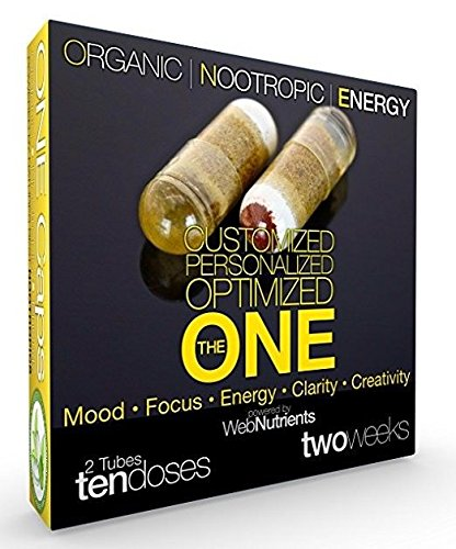 Organic Nootropic Energy - Custom Nootropic Stack of Activated Celastrus Paniculatus (Intellect Tree Seed), Saffron (Mood), CDP Choline (Memory), Guarana, Theanine, D3, B-100, More - 2 weeks (10 caps) by Nootropic Stacks by WebNutrients