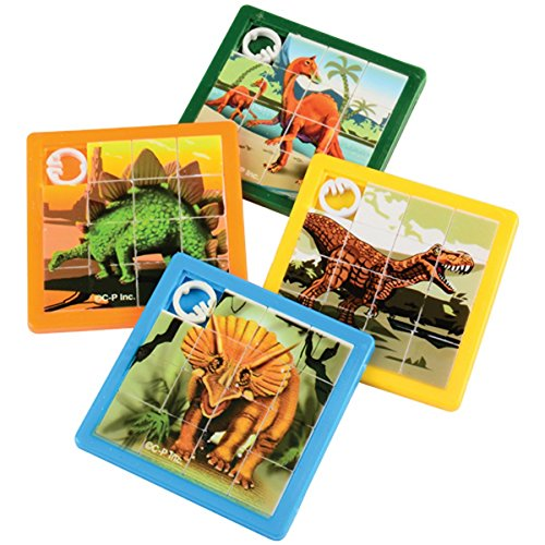 (Dino Dinosaur Slide Puzzles - Pack of 8)