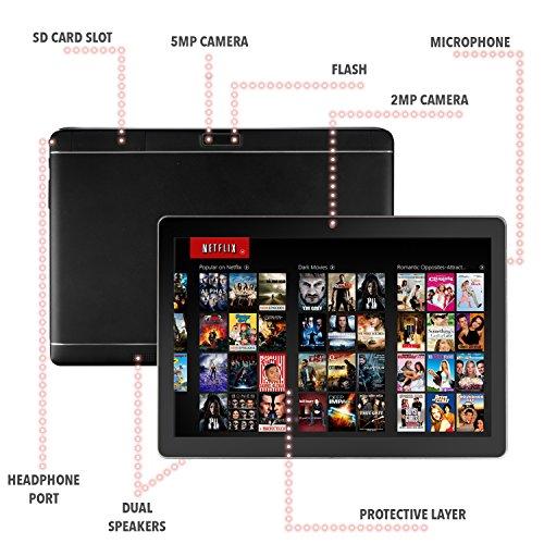 QuadTab 10.1 Tablet PC Android 8.1 2GB RAM 16GB Storage 1280 x 800 Touchscreen