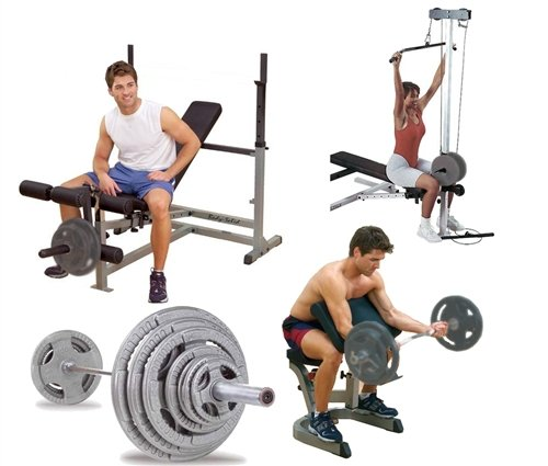 Body Solid Olympic PowerCenter Combo Pack And 300 lb Olympic Set by Body Solid