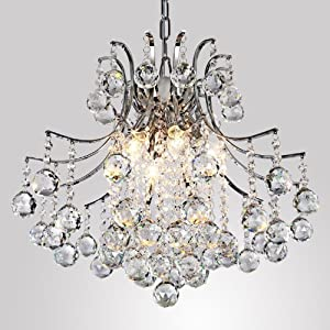 LightInTheBox® Modern Contemporary Crystal Chandelier with 6 Lights, Pendant Modern Ceiling Light Fixture for Bedroom, Living Room Dining Room Hallway Entery