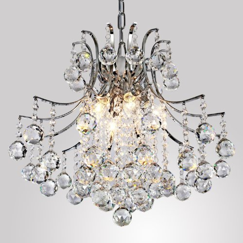 LightInTheBox Modern Contemporary Crystal Chandelier with 6 Lights, Pendant Modern Ceiling Light Fixture for Bedroom, Living Room Dining Room Hallway Entery by LightInTheBox