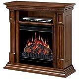 Dimplex Deerhurst Electric Fireplace Media Console in Walnut For Sale