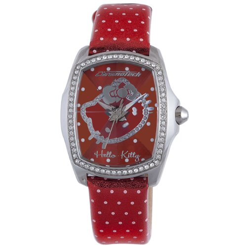 Hello Kitty Red Stainless Steel Watch by Hello Kitty