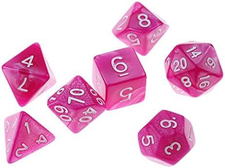 Gazechimp 7X Dados Poliédricos para Juego de Mesa - Rosa: Amazon.es: Juguetes y juegos
