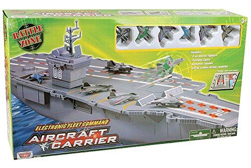 30 Long Aircraft Carrier 3 Aircrafts And Sound Effects