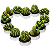 Cactus Tealight Candles,Cute Tea Lights Decorative for Wedding Birthday Party Home Decoration 12PCS