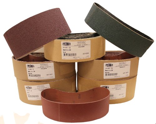 Uneeda Enterprizes, Inc M-107219 M-107219 3-Inch x 21-Inch No 120 Grit Aluminum Oxide Cloth Sanding Belt
